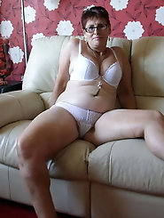 Unbelievable older housewife puts on sexy clothes